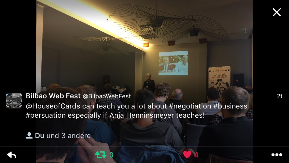 """twitter tweet vom Vortrag auf """"die Seriale"""" 2016 in Gießen"""