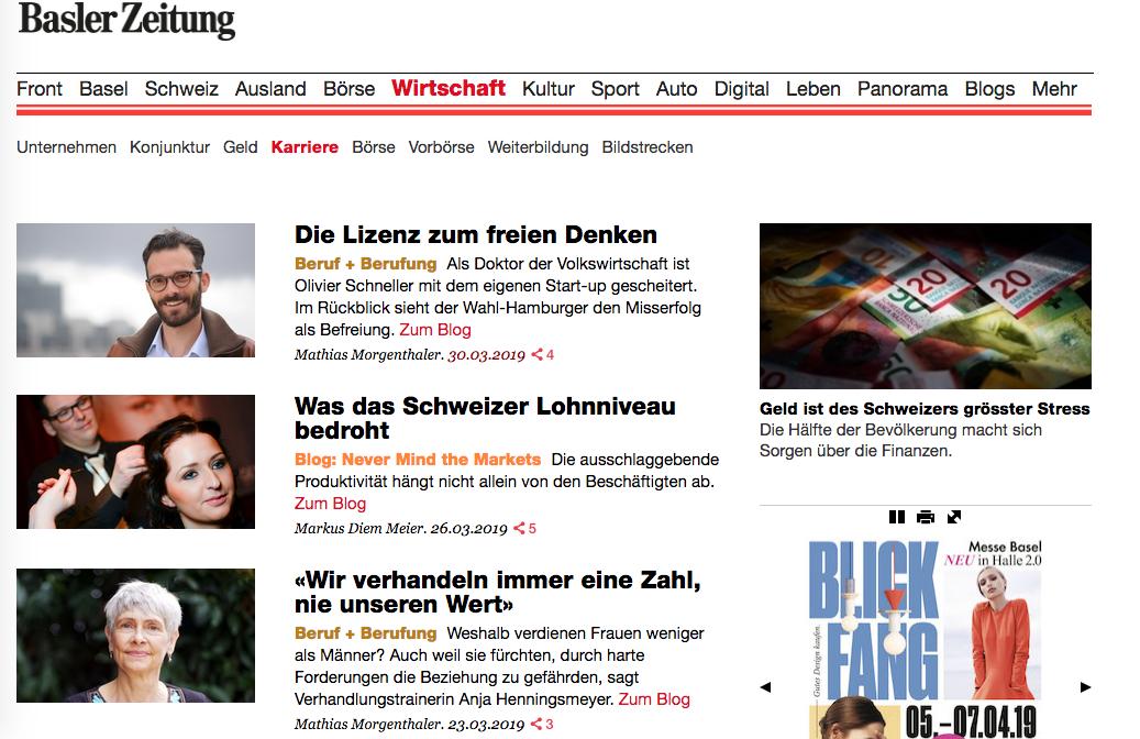 Interview mit Anja Henningsmeyer in der Basler Zeitung
