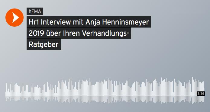 HR Interview mit Anja Henningsmeyer zum Nachhören